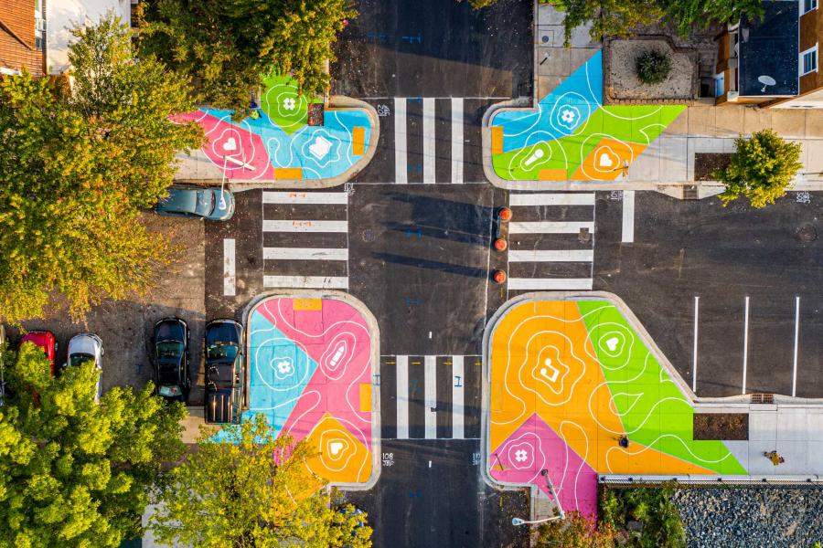Reverberations Crosswalks - aerial
